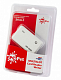 Картридер PC PET CR-211RWH USB 2.0 SDHC/CF/XD/MS/TF/M2 (24-in-1) Rubber White